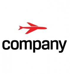 transportation by air logo vector image vector image