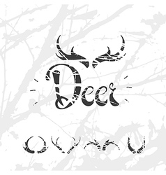 1Set of horns in hand draw style white vector image vector image