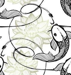 Fishing seamless pattern vector image vector image