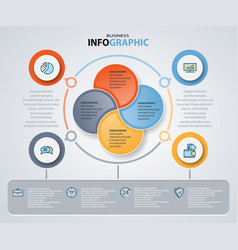 Infographics web design marketing icons for vector