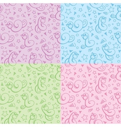 patterns with snakes vector image vector image