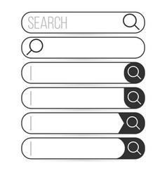 search bar element design set of search boxes vector image