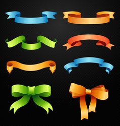 Set of full colors ribbons vector image vector image