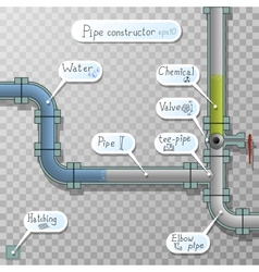 Unusual download bar with fluid in the pipes vector image vector image
