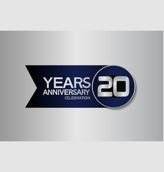 20 years anniversary logo style with circle vector