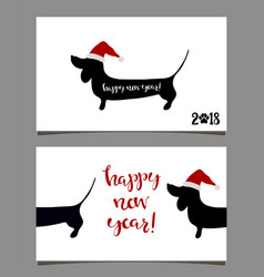 2018 greeting card vector image