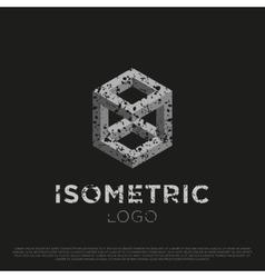3d Isometric Logo vector image