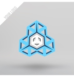 Abstract 3d logo Arches in perspective vector image