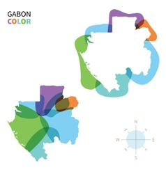 Abstract color map of Gabon vector image