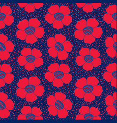 Abstract floral seamless pattern flower geometric vector