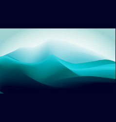 abstract gradient blue green ice mountain vector image
