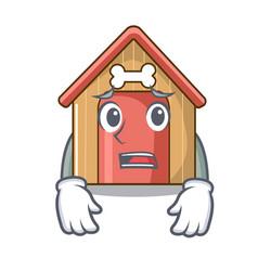 afraid dog house isolated on mascot cartoon vector image