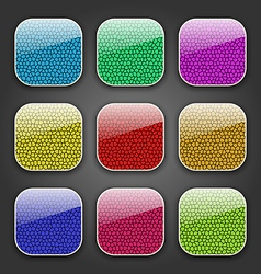 Backgrounds with leather texture for app icons vector