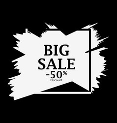 big sale 50 percent discount background with ink vector image