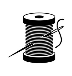 Black and white spool icon vector
