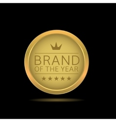 brand year label vector image
