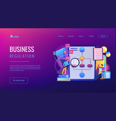 Business rule concept landing page vector