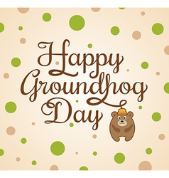 Card for Groundhog Day vector