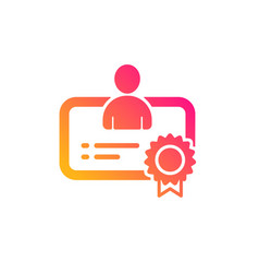 Certificate icon business management sign vector