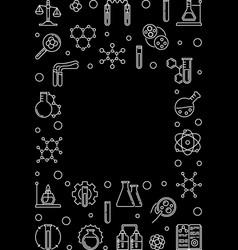 chemistry vertical outline dark concept vector image