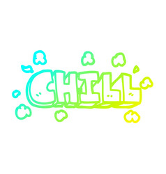 Cold gradient line drawing cartoon chill symbol vector