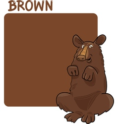 Color Brown and Bear Cartoon vector