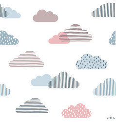 cute clouds seamless background vector image