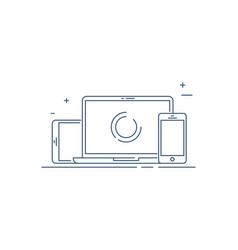 device smart phone tablet desktop vector image