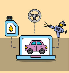 diagnostic technologic car service maintenance vector image