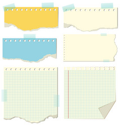 Different design of blank papers vector