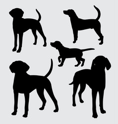 Dog mammal animal silhouette vector