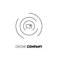 Drone logo isolated on white background vector