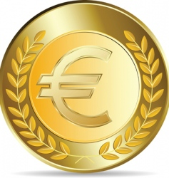 Euro coins illustration vector image