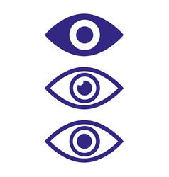 eye flat icons on white background vector image