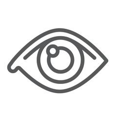 eye line icon anatomy and biology ophthalmology vector image