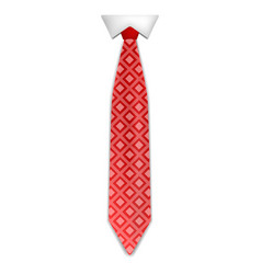 Fashion red tie icon realistic style vector