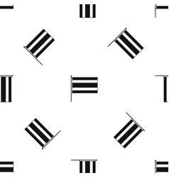 flag pattern seamless black vector image vector image