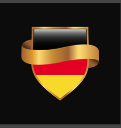 Germany flag golden badge design vector