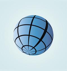 Globe icon flat drawing horizontal vector