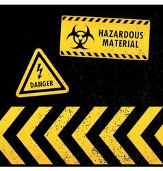 grunge hazard warning vector image