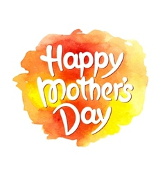 happy mothers day hand-drawn lettering vector image