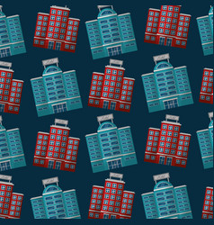 hotels building facade accommodation background vector image