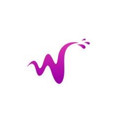 Letter w water logo design vector