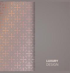 luxury wedding invitation vector image