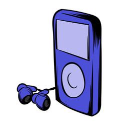 media player icon cartoon vector image