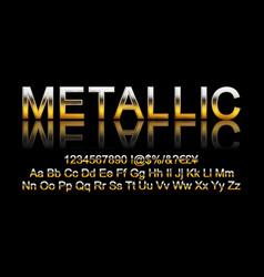 metallic gold font vector image