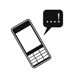 Mobile chatting icon vector image
