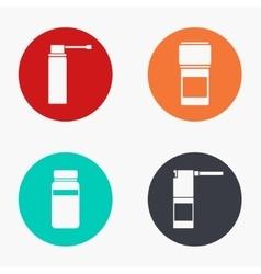modern medical kit colorful icons set vector image