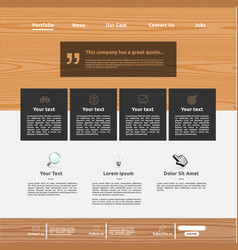 Modern website template for business vector