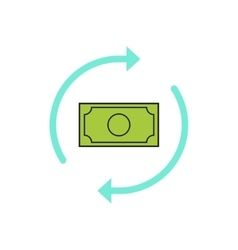 Money arrows icon concept of cash exchange vector image